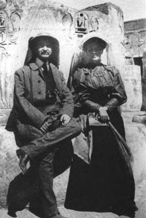 The Wizard of Oz and Political Symbolism: L. Frank Baum and his wife, Maud (Gage) Baum in Egypt, 1906