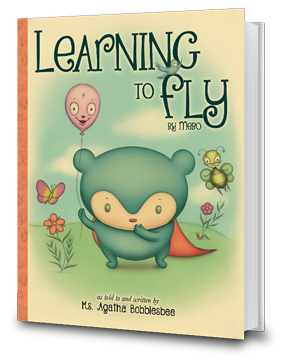 Learning To Fly - By Mebo the Blue Panda Bear - An Endearing Read-To-Me Bedtime Story Children's Book - Buy Now!