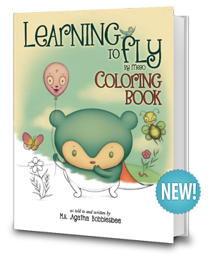 Learning To Fly - By Mebo the Blue Panda Bear - An Endearing Read-To-Me Bedtime Story Children's Book - Coloring Book