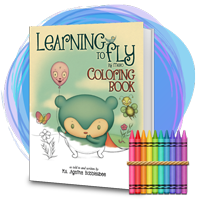 Learning To Fly - By Mebo the Blue Panda Bear - An Endearing Read-To-Me Bedtime Story Children's Coloring Book - Buy Now!